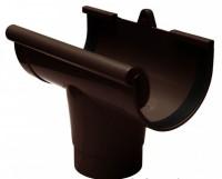 Воронка желоба 130мм RAINWAY коричневый