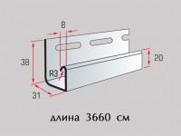 Планка J-trim к коллекции «Alta-Siding»