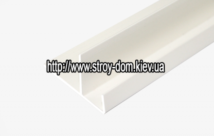 Профиль ПВХ F-полоса узкая белая ( 3 м.п. )