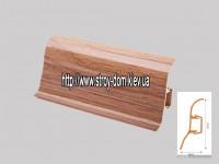 Плинтус 'Plint' AM60 — 02 с кабель-каналом глянцевый дуб савоен