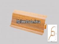 Плинтус 'Plint' AM60 — 05 с кабель-каналом глянцевый дуб рустикальный
