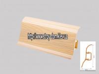 Плинтус 'Plint' AM60 — 06 с кабель-каналом глянцевый сосна