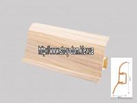 Плинтус 'Plint' AM60 — 07 с кабель-каналом глянцевый клён
