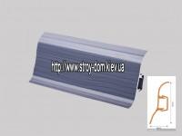 Плинтус 'Plint' AM60 — 10 с кабель-каналом глянцевый ясень синий