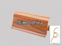 Плинтус 'Plint' AM60 — 11 с кабель-каналом глянцевый ольха