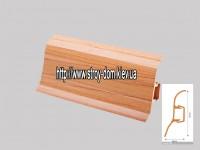Плинтус 'Plint' AM60 — 12 с кабель-каналом глянцевый вишня