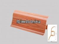 Плинтус 'Plint' AM60 — 13 с кабель-каналом глянцевый яблоня