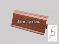 Плинтус 'Plint' AM60 — 14 с кабель-каналом глянцевый мербау
