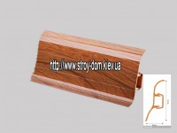 Плинтус 'Plint' AM60 — 15 с кабель-каналом глянцевый японская вишня