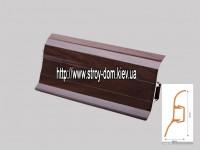 Плинтус 'Plint' AM60 — 19 с кабель-каналом глянцевый орех тёмный