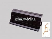 Плинтус 'Plint' AM60 — 20 с кабель-каналом глянцевый венге