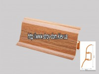 Плинтус 'Plint' AM60 — 21 с кабель-каналом глянцевый дуб баварский