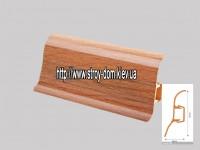 Плинтус 'Plint' AM60 — 22 с кабель-каналом глянцевый дуб шато