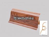 Плинтус 'Plint' AM60 — 23 с кабель-каналом глянцевый дуб богемный