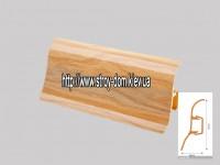 Плинтус 'Plint' AM60 — 24 с кабель-каналом глянцевый берёза майнау