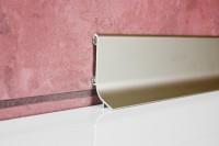 Плинтус алюминиевый Multi Effect Q63 серебро клей (SREBRO) размер 16.8*40*2700