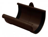 Муфта желоба 130мм RAINWAY коричневый