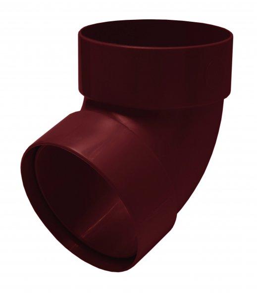Отвод трубы двомуфтный 67° 100мм RAINWAY красный