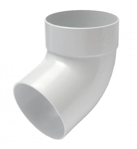 Отвод трубы одномуфтный 67° 75мм RAINWAY белый