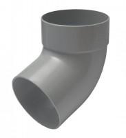 Отвод трубы одномуфтный 67° 75мм RAINWAY серый