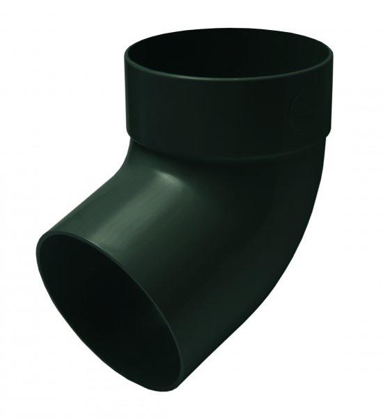 Отвод трубы одномуфтный 67° 75мм RAINWAY зелёный