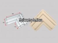Угол наличник Модерн к фасадным панелям коричневый