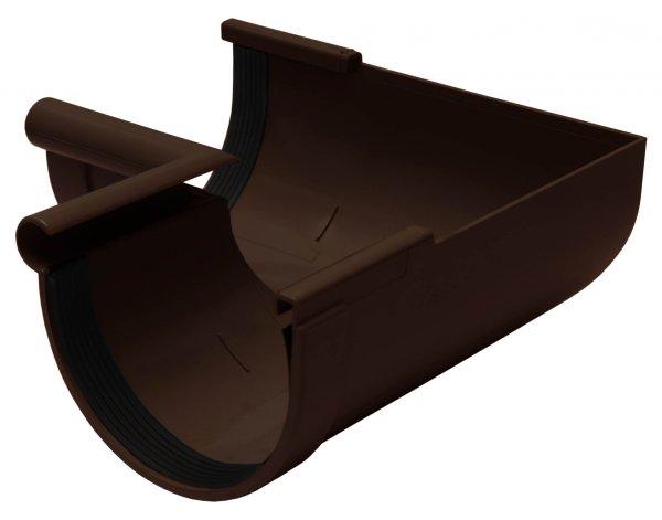 Кут желоба внутренний 90° 130мм RAINWAY коричневый
