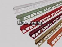 Профиль для кафельной плитки, бордовый, наруж.7-8мм