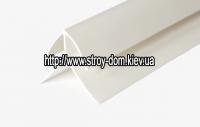 Профиль ПВХ угол наружный коричневый ( 3 м.п. )