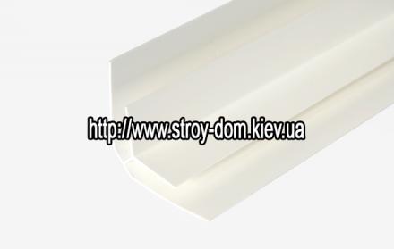 Профиль ПВХ угол внутренний белый ( 3 м.п. )