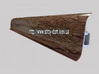 Плинтус «Plint» AM60 — 30 с кабель-каналом глянцевый старое дерево
