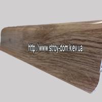 Плинтус «Plint» AM60 — 32 с кабель-каналом глянцевый дуб седой