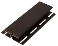Планка соединительная H-профиль к виниловому софиту RAINWAY коричневый
