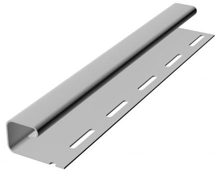 Планка J-trim к виниловому софиту RAINWAY белый