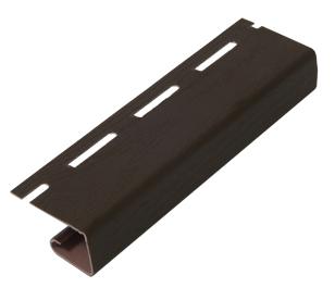 Планка J-trim к виниловому софиту RAINWAY коричневый