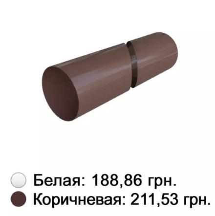 Труба белая 95 мм Альта-Профиль