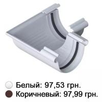 Угол желоба белый 90° Альта-Профиль