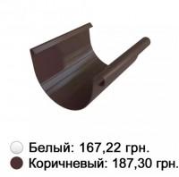 Желоб коричневый 125 мм Альта-Профиль