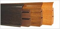 Плинтус Идеал Элит Макси высота 85 мм дуб пепельный глянцевый 210