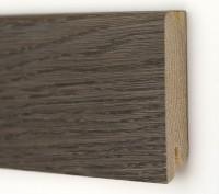 Плинтус деревянный шпонированный Ключук (Kluchuk) Модерн Дуб Базальт 80х18х2400