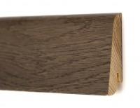 Плинтус деревянный шпонированный Ключук (Kluchuk) Евро Дуб Базальт 60х18х2400