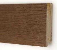 Плинтус деревянный шпонированный Ключук (Kluchuk) Модерн Дуб браун 80х18х2400