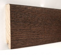 Плинтус деревянный шпонированный Ключук (Kluchuk) Модерн Дуб Какао 80х18х2400