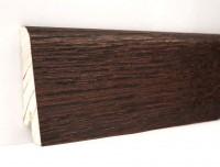 Плинтус деревянный шпонированный Ключук (Kluchuk) Евро Дуб Коньяк 60х18х2400