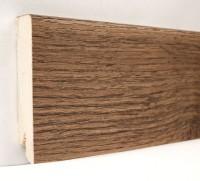 Плинтус деревянный шпонированный Ключук (Kluchuk) Модерн Дуб Мокка 80х18х2400