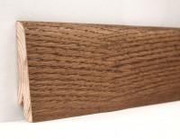 Плинтус деревянный шпонированный Ключук (Kluchuk) Евро Дуб Мокка 60х18х2400
