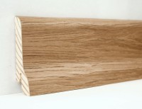 Плинтус деревянный шпонированный Ключук (Kluchuk) Классика  Дуб натуральный 60х21х2400