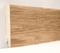 Плинтус деревянный шпонированный Ключук (Kluchuk) Модерн Дуб натуральный 80х18х2400