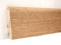 Плинтус деревянный шпонированный Ключук (Kluchuk) Евро Дуб натуральный 60х18х2400