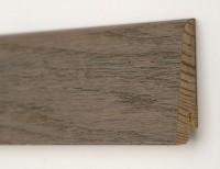 Плинтус деревянный шпонированный Ключук (Kluchuk) Евро Дуб Полярный 60х18х2400